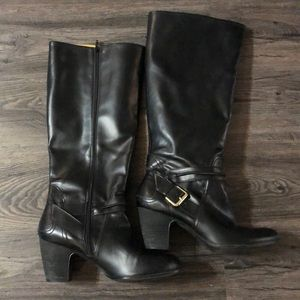 Nine West Shoes - Super cute tall black boots with buckle